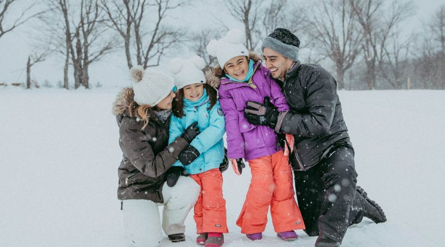Snow and Winter Family Photography in Stowe, Vermont