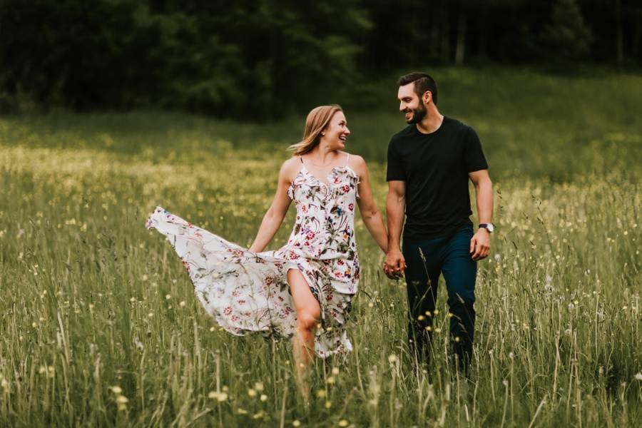 Vermont engagement photography